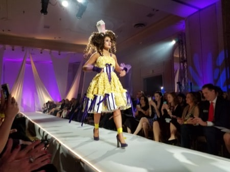 Anna Sardzinski walks the runway
