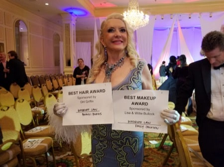 Two Woodruff Family Law Group sponsored models win at Big Hair Ball 2018