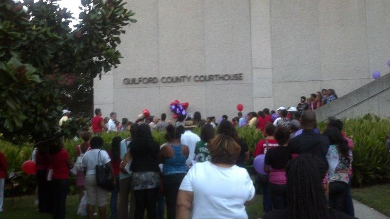 People at Guilford County Courthouse