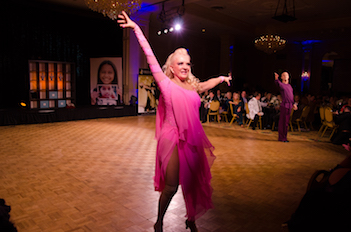 Carolyn Woodruff performs at Dancing