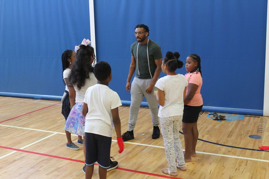Dance Instructor with Kids